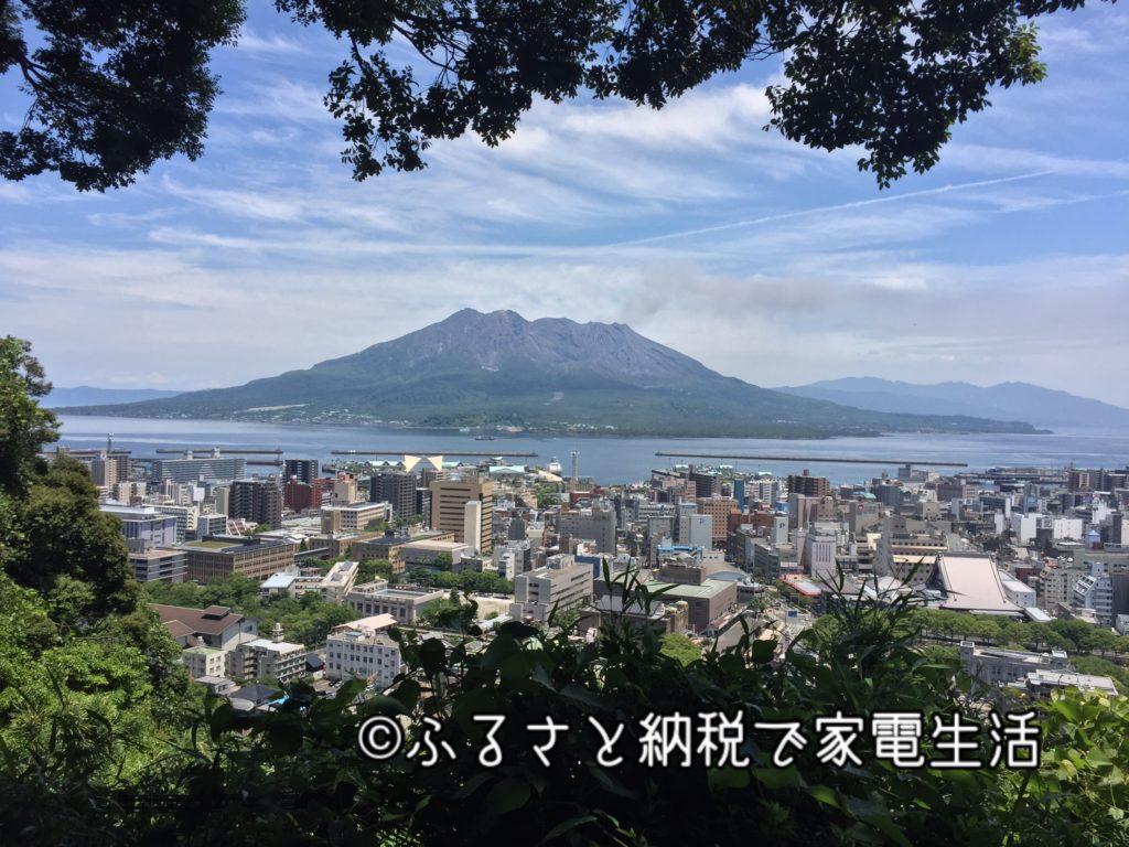 噴煙あがる桜島